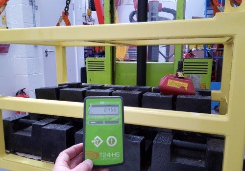Proof load testing lifting basket